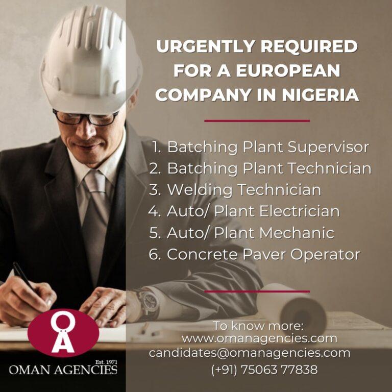 welding jobs in Nigeria