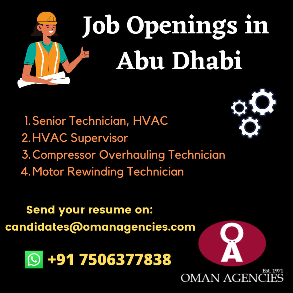 Job Openings for Workshop Project in Abu Dhabi