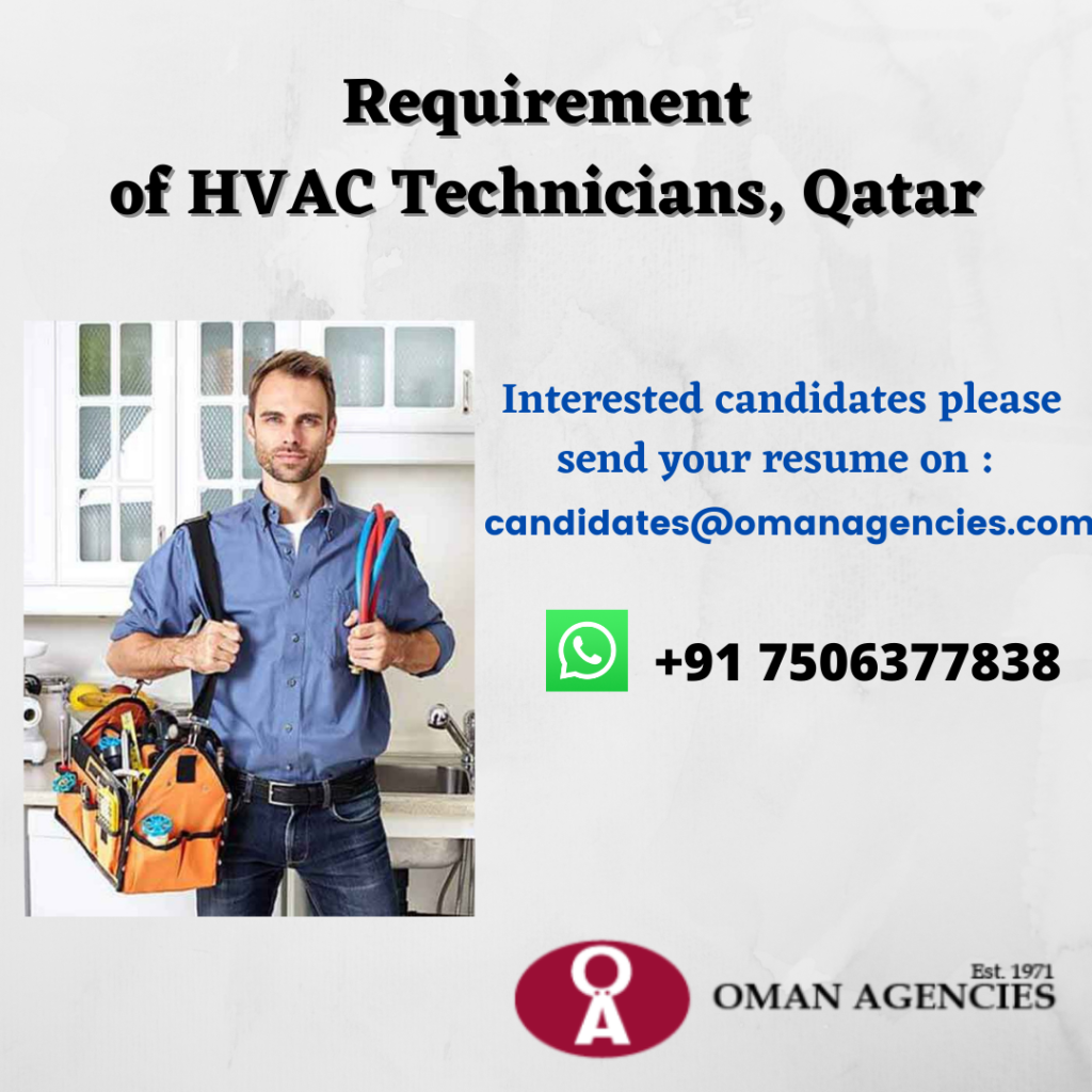 Requirement for HVAC Technicians in Qatar