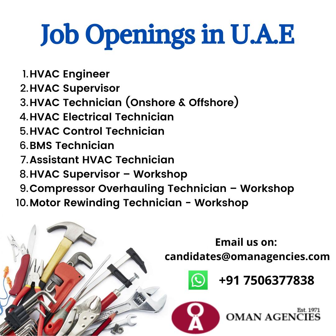 Job Openings in U.A.E.