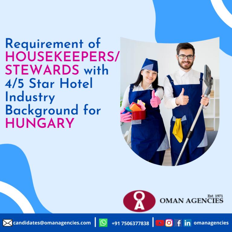 Hotel Housekeeping Jobs in Europe
