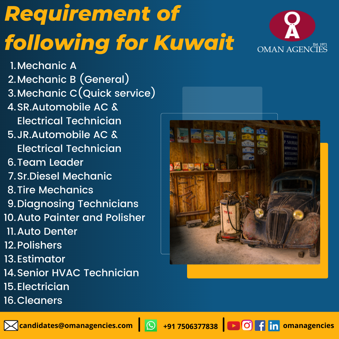 mechanic jobs abroad